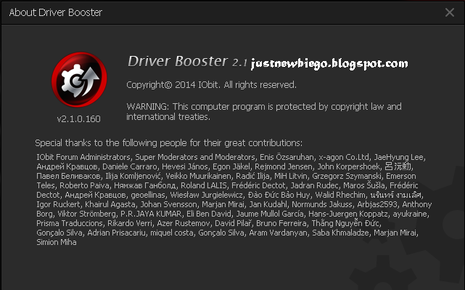 Iobit Driver Booster Pro 2.1.0.160 Update Terbaru dengan Serial Number